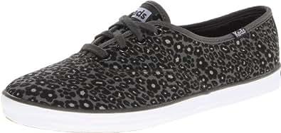 Keds Women's Champion Leopard Fashion Sneaker,Black,5 M US