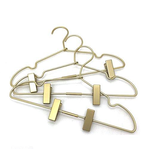Koobay 10PS Golden Metal 12.5 Baby Clothes Clips Hanger Children Kids Coat Hanger Display and Storage