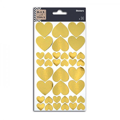 Toga 36 golden hearts stickers