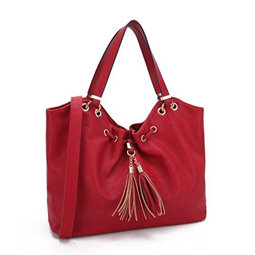 Lightweight Hobo Bag (Dasein Large Ultra Soft Hobo Bag Lightweight Fashion Shoulder Bag Designer Handbag Purse)