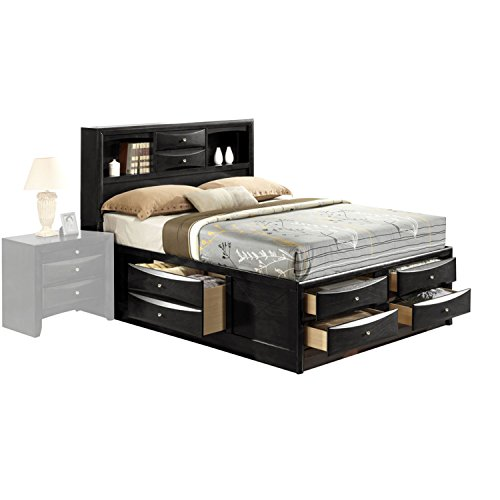 ACME Furniture 21620F Ireland Bed with Storage, Full, Black