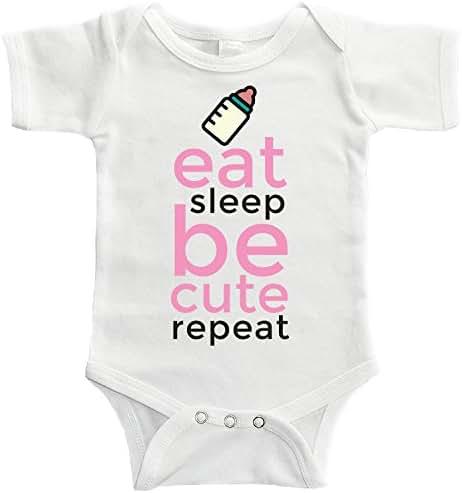 Starlight Baby Eat Sleep Be Cute Repeat Bodysuit