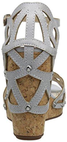 Adrienne Vittadini Chaussures Femme Chavi Wedge Sandale Blanc