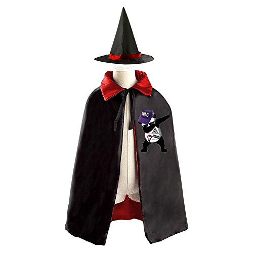 Dab EmojiEmoji Panada Kids Halloween Party Costume Cloak Wizard Witch Cape With Hat