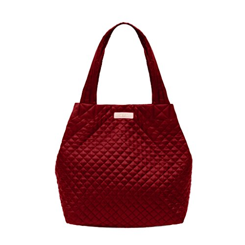 Archer Brighton Chloe Lightweight Quilted Nylon Laptop Tote Shopper (Maroon) from Archer Brighton
