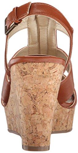 White Mountain Dharma de la mujer sandalias de cuña Luggage