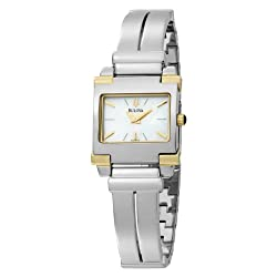 Bulova Women's 98L002 Two-Tone Mother of Pearl Dial Watch