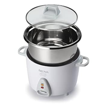 aroma simply stainless 3 cup uncooked  6 cup  cooked  rice amazon com  aroma simply stainless 3 cup uncooked  6 cup  cooked      rh   amazon com