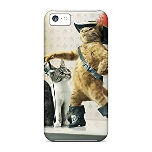 Casecover88 Perfect Cases For Iphone 5c/ Anti-scratch Protector Cases (puss In Boots)