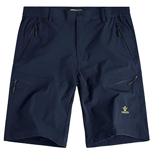 (WenVen Men's 8 inch Outdoor Waterproof Active Sports Cargo Shorts(Blue, 30))