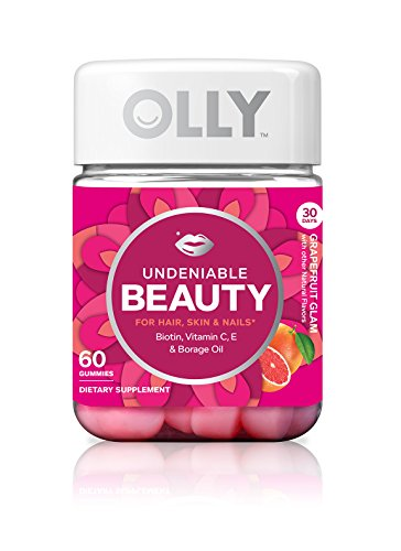 OLLY Undeniable Beauty Gummy Supplements, Grapefruit Glam (Packaging May Vary), 60 Count