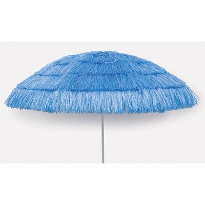 6' Tiki Umbrella Fabric: Bright Blue