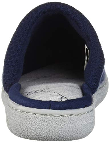 Dearfoams Women's Textured Knit Closed Toe Scuff Slipper, Peacoat, M Regular US by Dearfoams (Image #2)