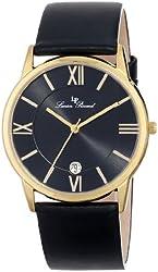 Lucien Piccard Unisex LP-10608-YG-01 Moiry Analog Display Swiss Quartz Black Watch