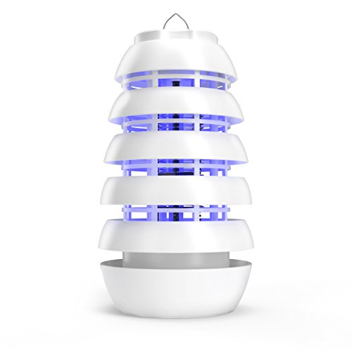 Pure Enrichment Electronic Insect Killer - Improved Indoor/Covered Patio Bug Zapper - Attracts Bugs, Mosquitoes and Other Pests with Safe, Long-Lasting UV LED Light and Titanium Dioxide Coating