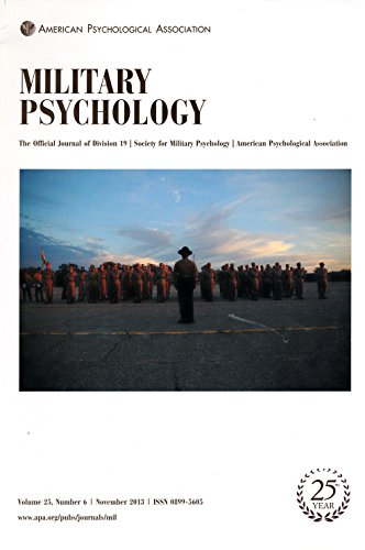 Military Psychology : PTSD in Combat Medics; PTSD in U.S. Air Force Pararescuemen; Trainee Perceptions of Drill Sergeant; Effects of 7.5% C02 Induced Anxiety; Reducing Racial Harassment Air Force Drill Sergeant