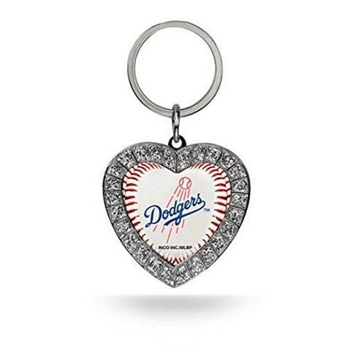 ers Rhinestone Heart Keychain (Los Angeles Dodgers Rhinestone)