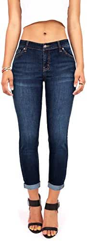 Wax Women's Juniors Mid-Rise Capri Jeans w Stretch