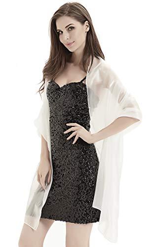 Alivila.Y Fashion Womens Organza Bridal Evening Soft Wrap Scarf Shawl-White Organza ()