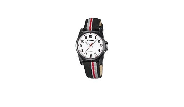 Calypso Reloj Análogo clásico para Unisex de Cuarzo con Correa en Nailon K5707/8: Calypso: Amazon.es: Relojes