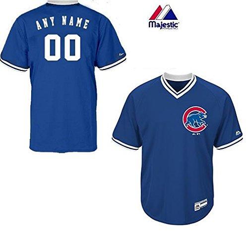 (Adult 3XL Chicago Cubs BLANK BACK Major League Baseball Cool-Base V-Neck Jersey)