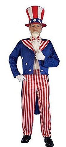 Forum Novelties Men's Patriotic Party Uncle Sam Halloween Costume, Multi, X-Large - Halloween Costumes Red Pants