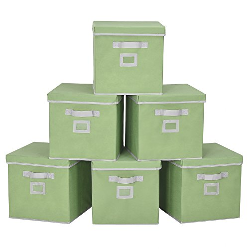 fabric cube bins with lids - 1