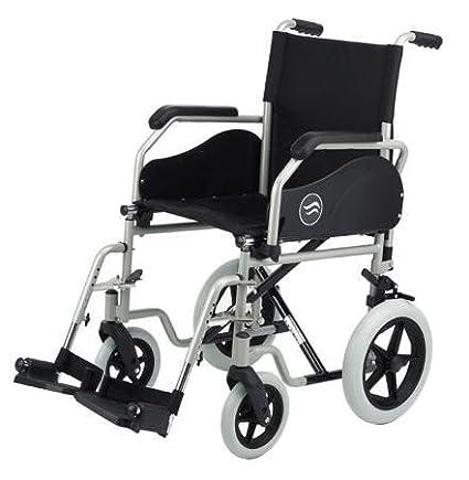 Silla ruedas manual en acero plegable con rueda trasera 12 ...