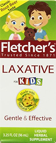 Fletcher's Laxative, For Kids, Root Beer, 3.25-Ounce Bottles (Pack of 3) (Best Laxative For Kids)
