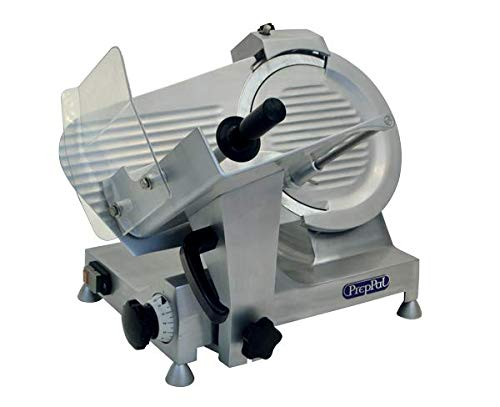 - Commercial Meat Slicer 12 Inch Blade, 1/2 HP Heavy Duty Food Slicer Aluminum Deli, PREPPAL PPSL-12HD