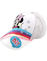 Disney Minnie Mouse Heather Jersey Rainbow Baseball Cap, Toddler Girls, Age 2-4 (Minnie Mouse Heather Grey, Ages 2-4)