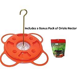 Birds Choice NP1009 Oriole-Fest Songbird Oriole Feeder, 12-Ounce includes a Bonus Pack of Oriole Nectar