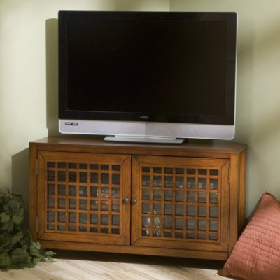 Corner Maple Tv Stand (Southern Enterprises Narita Corner Media Stand - Walnut)