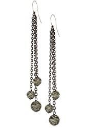 Deanna Hamro Atelier Black Diamond Triple Ball Chain Earrings