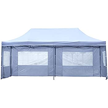 Amazon Com Outdoor Basic 10x20 Ft Pop Up Canopy Party