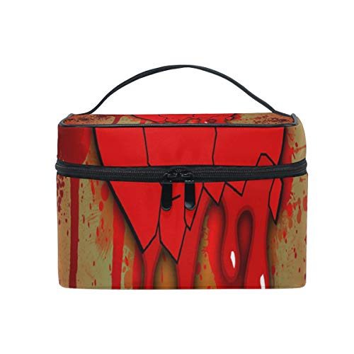 Toiletry Bag Bloody Heart Womens Beauty Makeup Case, used for sale  Delivered anywhere in USA