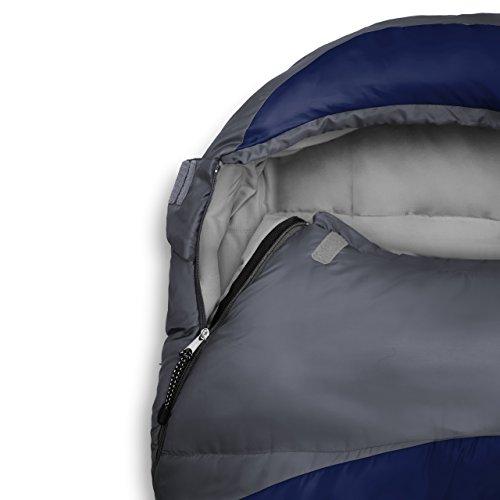 Lumaland Outdoor saco de dormir, ca. 230 x 80 cm, bolsa de transporte incluida, ca. 50 x 25 cm, azul intenso: Amazon.es: Deportes y aire libre