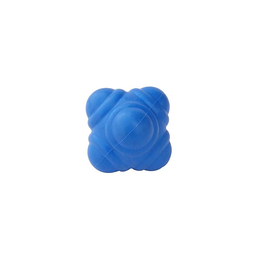 HealthAndYoga(TM) Rubber Reaction Ball for Improving Agility, Reflexes and Hand eye Coordination Skills | Small Handy Size
