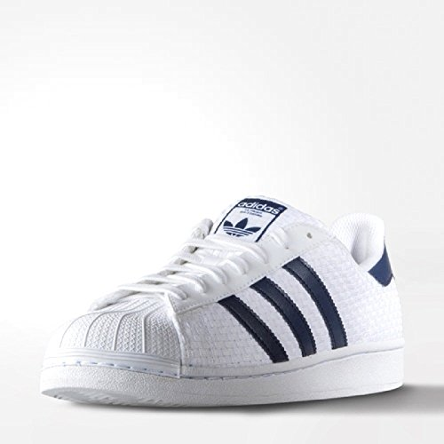 Mens Adidas Superstar White Blue Trainers S41991 UK 11.5 EUR 46 2/3 US 12