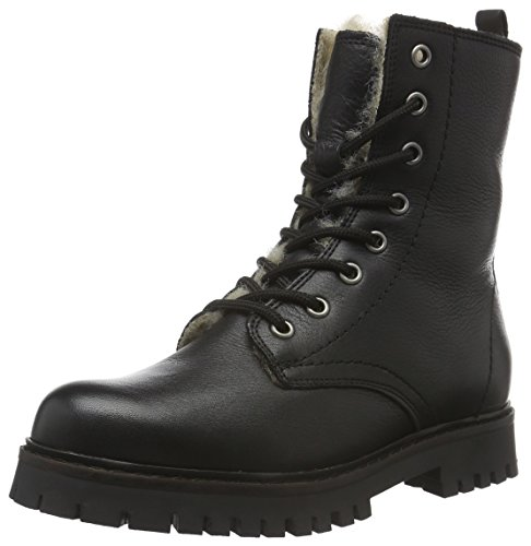 Bianco 10 Clean Stivali Warm black schwarz Donna Son15 Militari Boot Nero ZZvUrq