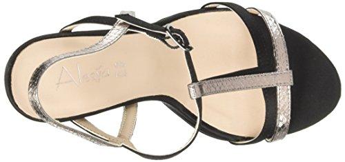 Alesya Straps Heeled Scarpe High Black Sandals amp;Scarpe with vrvqFAw