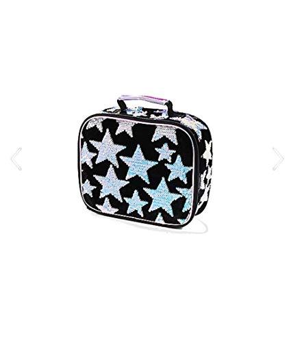Flip Stars - Justice Girls Star Velvet & Flip Sequin Lunch Tote Black/stars