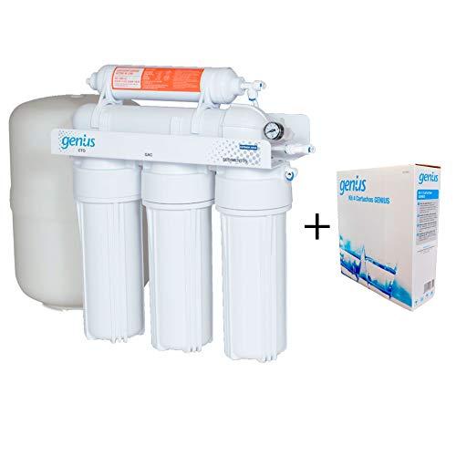 ATH - Osmosis Inversa 5 Etapas Genius Pro 50 + Recambios Osmosis Originales