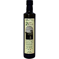 Papa Vince Family Made Olive Oil, Extra Virgin, First Cold Pressed, Single Sourced Sicily, Italy, Unfiltered, Unrefined, No After Taste, Robust e Raw, Large 16.9 Fl oz