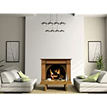 Vinyl Fireplace Wall Sticker - Wallpaper Graphic Decoration for Bedroom or Living Room in Your Apartment or House - Livens Up a Workplace or Home and It Feels Warmer Than It Is