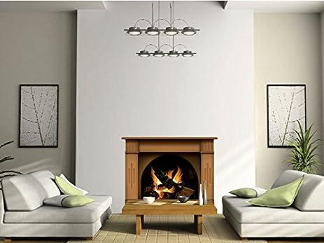Amazon.com: Vinyl Fireplace Wall Sticker - Wallpaper Graphic ...