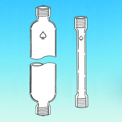 ACE GLASS 5820-12 Series Chromatography Column with #11 Threds, 11 mm ID, 600 mm Height