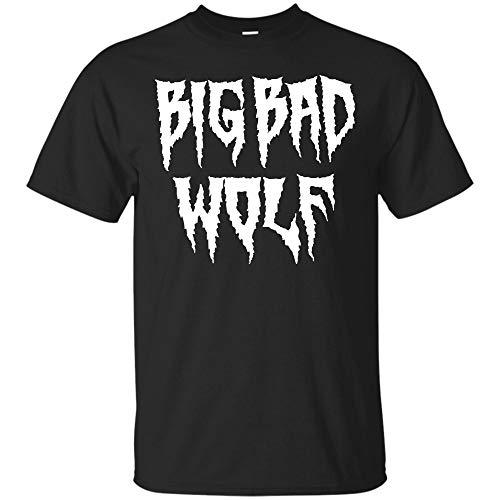Big Bad Wolf T Shirts Funny Wolfs Men Women Gifts Tees (Unisex T-Shirt;Black;6XL) ()