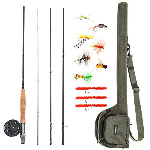 lixada 9' Fly Fishing Rod and Reel Combo with Carry Bag 20 Flies Complete Starter Package Fly Fishing Kit