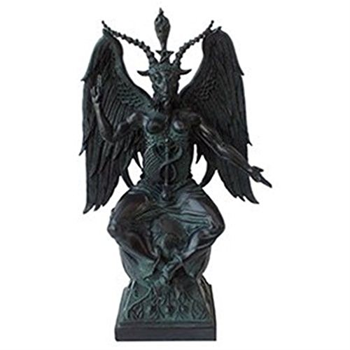 Ky & Co YesKela Large Baphomet On Pedestal in Faux Stone Finish Resin Figurine Statue 15